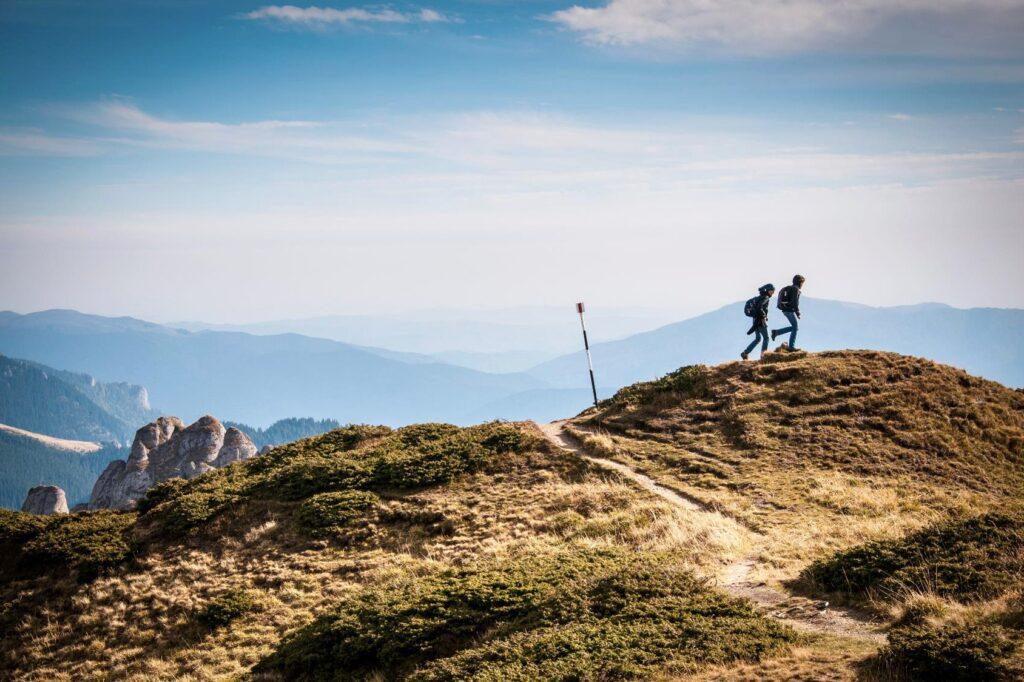 para idzie po szczytach